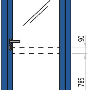 Porte vetrate in acciaio